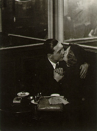 Lovers in Bistro Brassaï (pseudonym of Gyula Halász) (9 September 1899–8 July 1984)