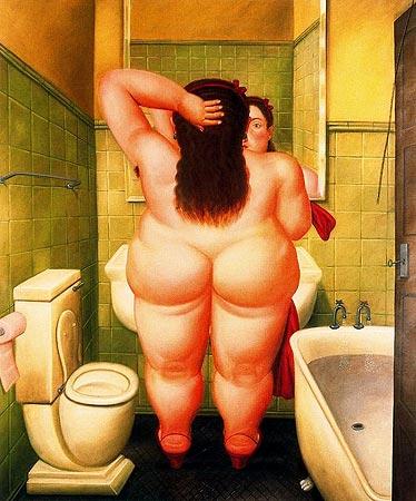 El baño, 1989. Fernando Botero