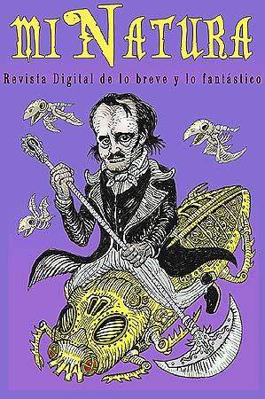 Portada Revista Digital miNatura 103. Ilustración original de Pavel Lujardo